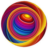 Mundo de la pintura, mundo de colores stock de ilustración