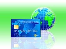 Mundo de la tarjeta de crédito libre illustration
