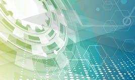 Mundo de la tecnología de Digitaces Concepto virtual del negocio Vector ilustración del vector