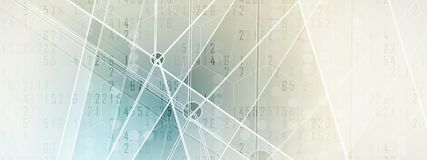 Mundo de la tecnología de Digitaces Concepto virtual del negocio para la presentación Fondo del vector