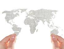 Mundo de las noticias Imagen de archivo libre de regalías