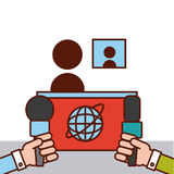 Mundo de las noticias plano Fotos de archivo libres de regalías