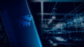 Mundo de los datos de Digitaces stock de ilustración