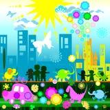 Mundo de los niños stock de ilustración