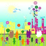 Mundo de los niños ilustración del vector