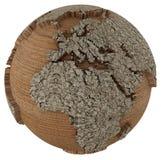 Mundo de madeira Imagens de Stock Royalty Free