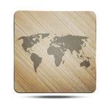 Mundo de madera Foto de archivo libre de regalías