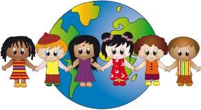 Mundo de niños stock de ilustración
