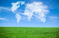 Mundo de nubes Foto de archivo libre de regalías
