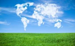 Mundo de nubes Fotos de archivo