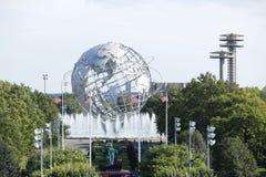 Mundo 1964 de Nueva York s Unisphere justo en el parque de Flushing Meadows fotos de archivo libres de regalías