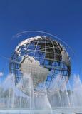 Mundo 1964 de Nueva York s Unisphere justo en el parque de Flushing Meadows Foto de archivo libre de regalías