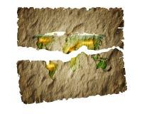 Mundo de papel viejo de la correspondencia. Fotos de archivo