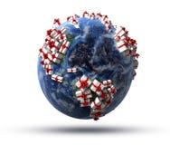Mundo de regalos ilustración del vector