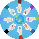 Mundo de Smartphone Fotos de Stock