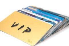 Mundo de tarjetas plásticas fotos de archivo libres de regalías