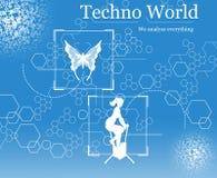 Mundo de Techno ilustração stock