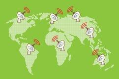 Mundo de uma comunicação Ilustração Stock