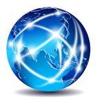 Mundo de uma comunicação, comércio global Fotos de Stock Royalty Free
