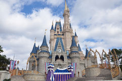 Mundo de Walt Disney del castillo de Disney Cinderella Imágenes de archivo libres de regalías