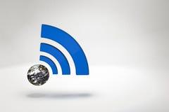 Mundo de Wifi Fotografia de Stock Royalty Free