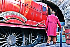 Mundo de Wizarding de Harry Potter en los estudios universales Japón Fotos de archivo