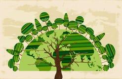 Mundo del árbol del concepto de los árboles Foto de archivo