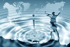 Mundo del agua Fotos de archivo