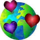 Mundo del amor stock de ilustración