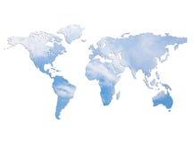 Mundo del cielo azul Imagen de archivo libre de regalías