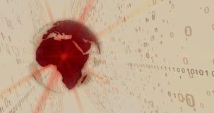 Mundo del concepto de la tecnología digital stock de ilustración
