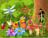 Mundo del insecto ilustración del vector