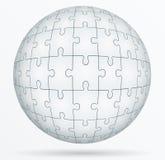 Mundo del rompecabezas en la forma una esfera. Imágenes de archivo libres de regalías