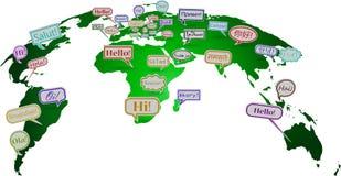 Mundo del saludo Imágenes de archivo libres de regalías