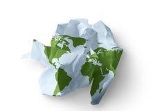Mundo destruido Imagen de archivo libre de regalías