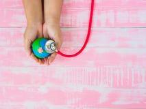Mundo Dia da Terra dia de saúde do 22 de abril e de mundo, o 7 de abril conceito Imagem de Stock Royalty Free