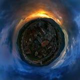 Mundo 360 diplomas em Pereira e no por do sol mágico imagens de stock