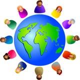 Mundo diverso ilustração royalty free
