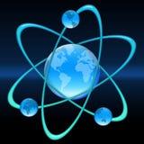 Mundo do átomo ilustração stock