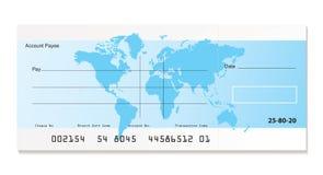 Mundo do cheque do banco Fotografia de Stock
