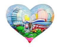 Mundo do coração Fotografia de Stock Royalty Free