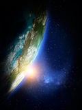 Mundo do espaço Fotos de Stock Royalty Free
