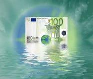 Mundo do euro 100 Imagem de Stock