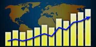 Mundo do gráfico Imagem de Stock Royalty Free