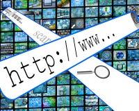 Mundo do Internet Imagens de Stock Royalty Free