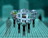 Mundo do Internet Fotografia de Stock Royalty Free