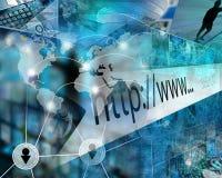 Mundo do Internet Imagens de Stock