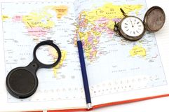 Mundo do mapa Foto de Stock Royalty Free
