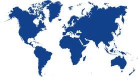 Mundo do mapa Fotos de Stock