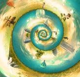 Mundo do nautilus Ilustração Royalty Free